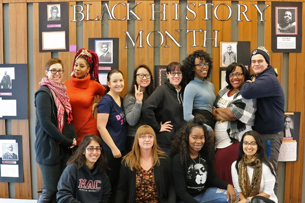 Members of the student Black Lives Matter Committee