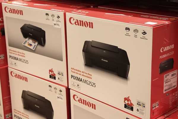 boxes of Canon printers