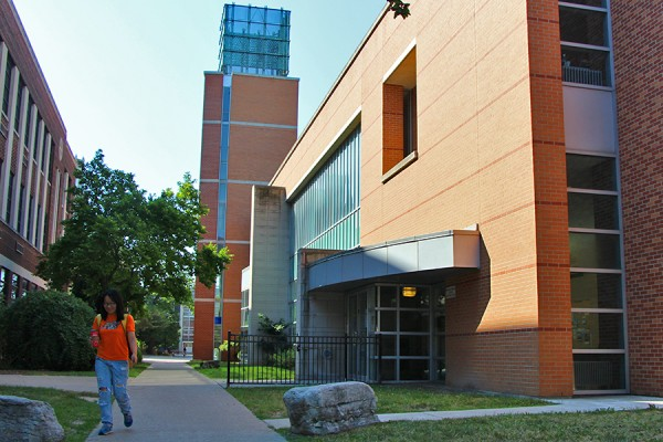 exterior of CAW Student Centre