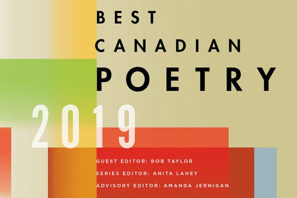 "book cover ""Best Canadian Poetry 2019."""