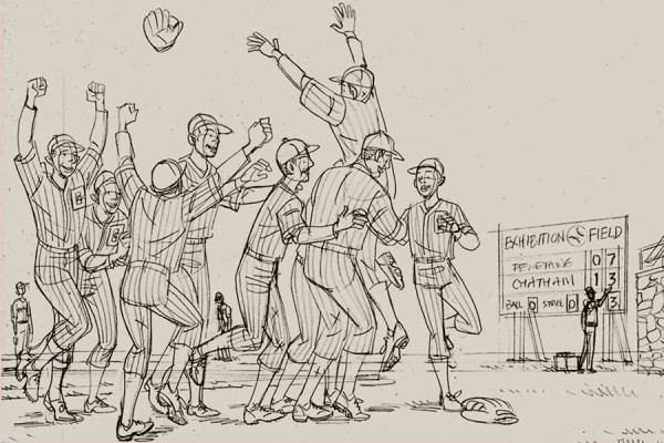 cartoon image of Chatham Coloured All-Stars