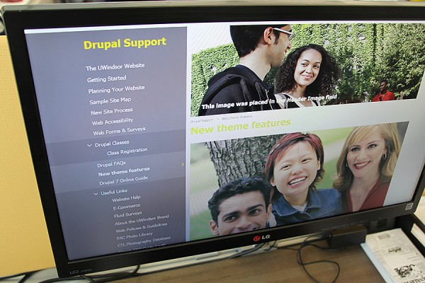 computer displaying page in Drupal