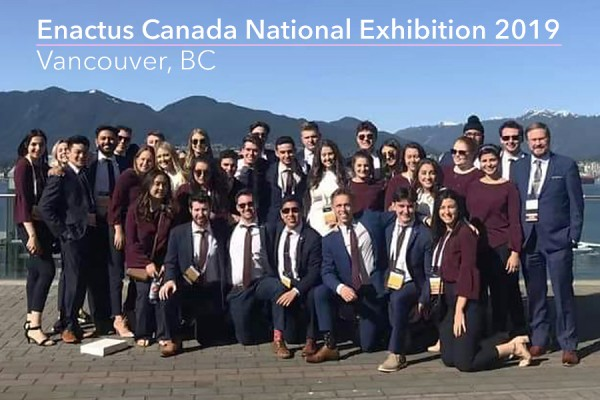 Enactus Windsor members at exhibition in Vancouver