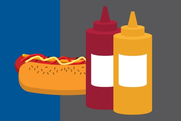 hotdogs and condiments