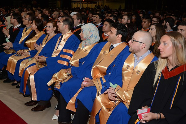 men and women in academic gowns