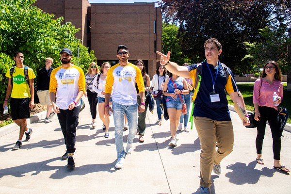 Students tour campus during Head Start.