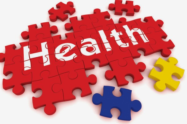 "Blue and Gold pieces in puzzles labelled ""Health"""