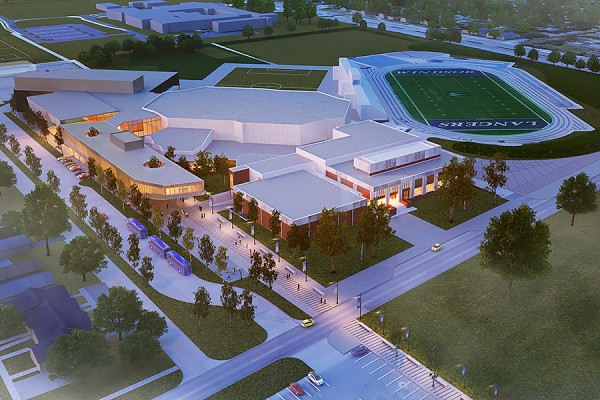 artist's rendering of proposed Lancer Sports and Recreation Centre