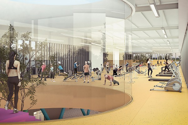 artist's rendering of the Lancer Sport and Recreation Centre