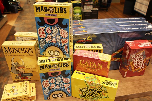 All board and card games are 20 per cent off at the Campus Bookstore until the holiday break.
