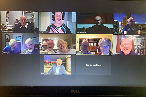 screen grab of video conference