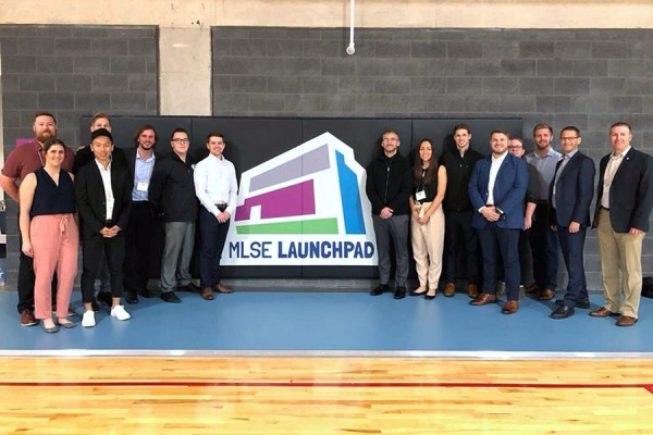 Graduate students of sport management toured the MLSE Launchpad.