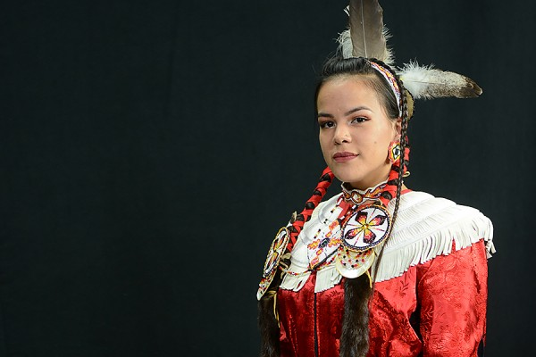 Destiny Soney in native dress