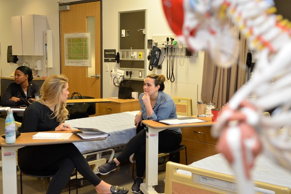Students in the nurse practitioner program got a brief prep session Wednesday before heading into practicum placements.