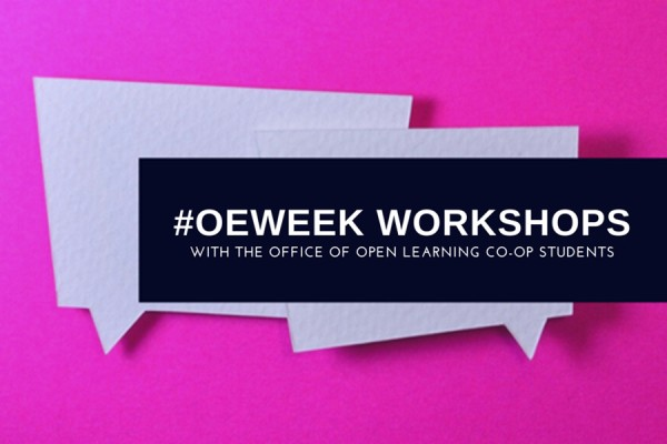 graphic highlighting hashtag #OEweek