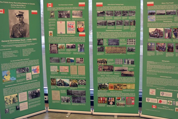 posters by UWindsor history student Peter Sawicki on Polish Army recruitment in Windsor during the Second World War
