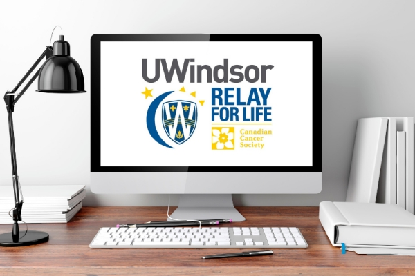computer screen displaying virtual Relay for Life