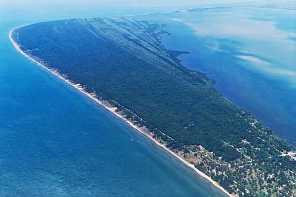 aerial view of Rondeau Provincial Park