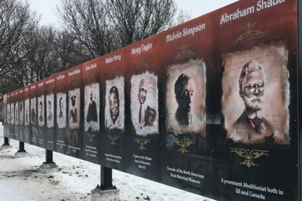 Mural in Sandwich of local Black notables