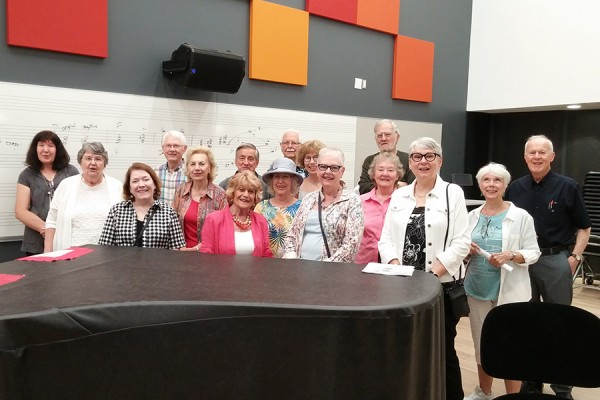 Members of the Windsor University Retirees' Association and Uni-Com Lifelong Learning toured the SoCA Armouries on Tuesday.