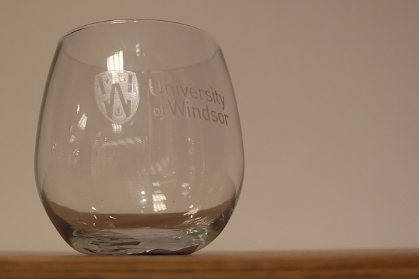 This stemless wine glass, normally $12.95, is just $9.95 August 27 in the Campus Bookstore.