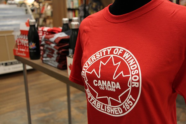The Campus Bookstore is selling Canada 150 gear in advance of the nation's sesquicentennial.