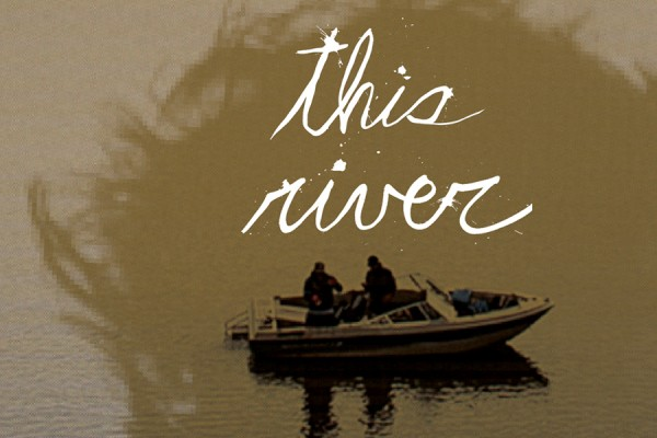 This River poster -- boat with two men in it