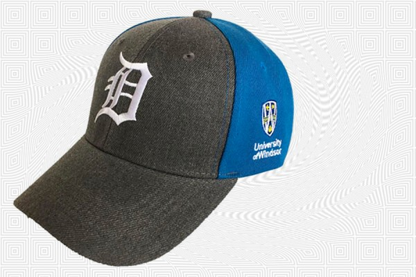 Ballcap that bears the Old English D and the UWindsor logo