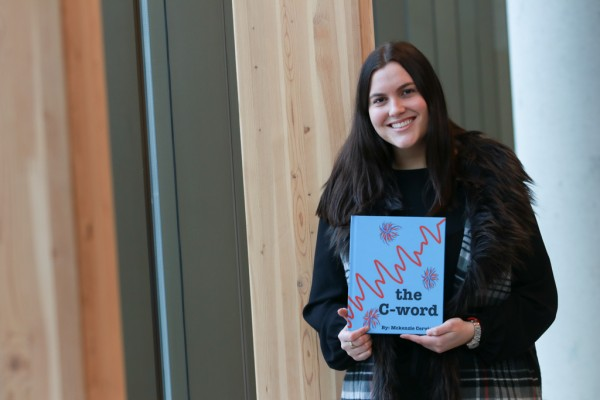 Mckenzie Cervini has written and illustrated a children's book about cancer for her final project in Dr. Lisa Porter's Cancer Undergraduate Research Education (CURE) class.