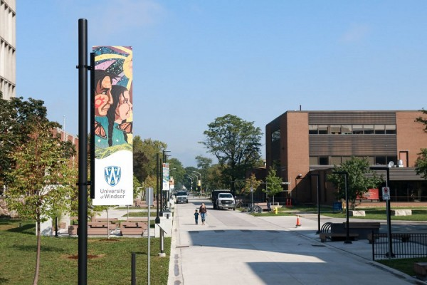 Campus gets early glimpse of Turtle Island Walk banners