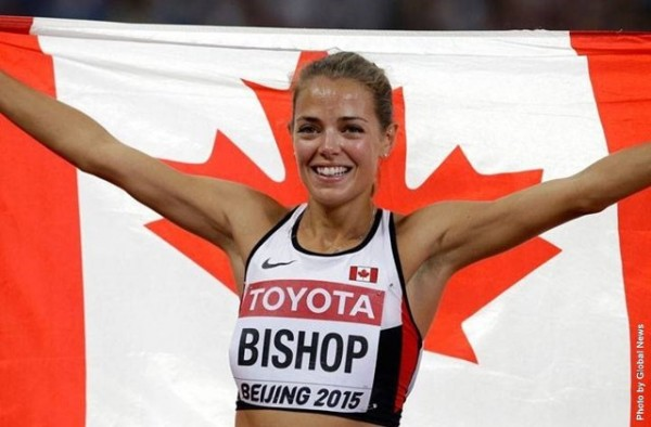 Former Lancer Melissa Bishop wins silver in 800m, at the IAAF World Championships in Beijing, China, Saturday 29 August.