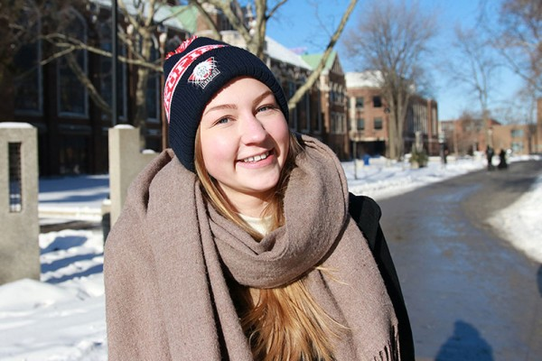 Jonkoping Foreign Exchange Student Ida Karlsson begins a semester long internship at UWindsor's Office of Public Affairs and Communications.