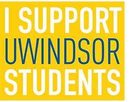Text box: I support UWindsor students