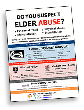 Poster: Do you suspect elder abuse?