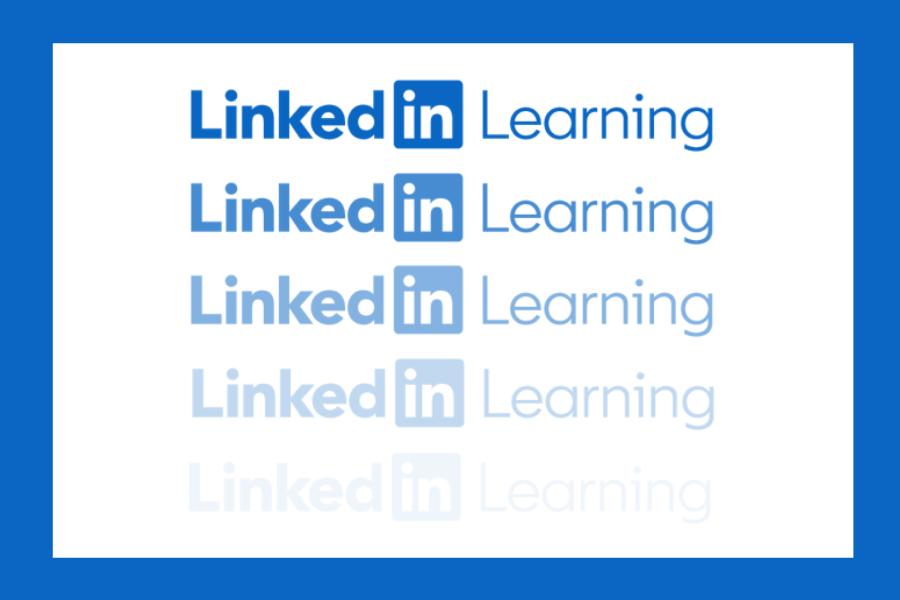 LinkedIn Learning logo fading to white