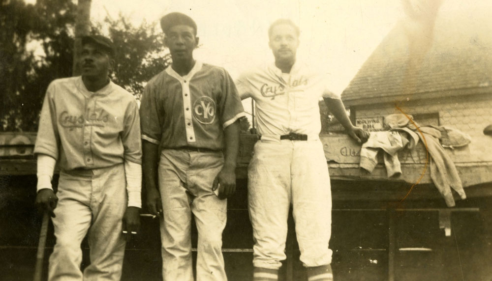 Chatham Coloured All-Stars Fergie Jenkins Sr., Andy Harding and Ross Talbot are pictured in CYO and Crystal uniforms in this undated file photo.