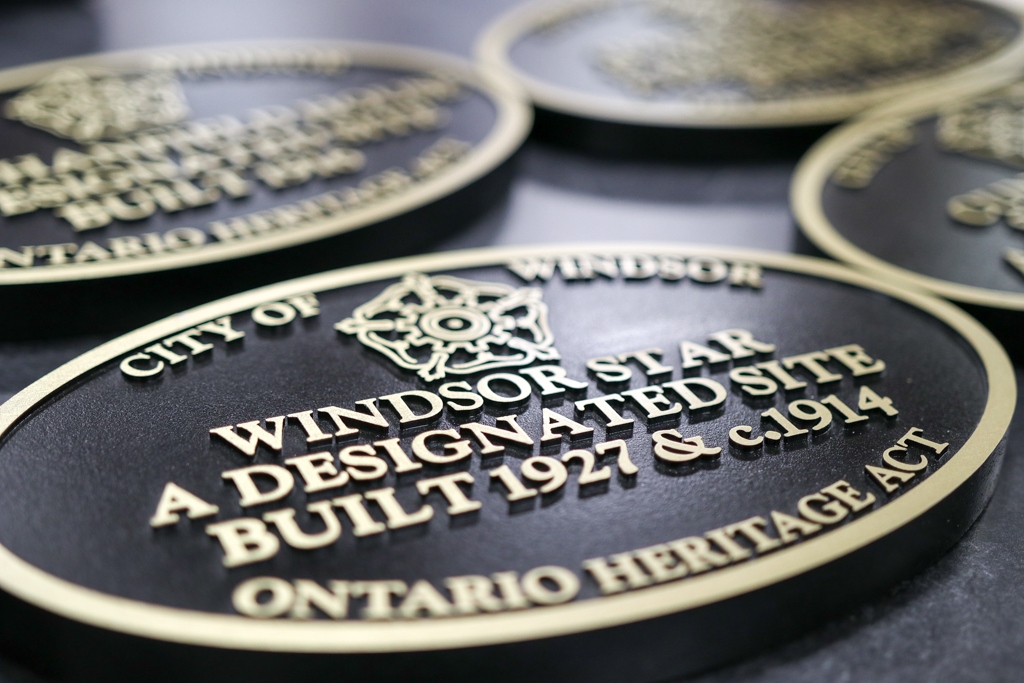 The University of Windsor was presented with a heritage plaque for its School of Social Work and Centre for Executive and Professional Education.