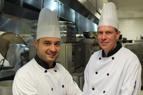 Executive chef Paolo Vasapolli and sous chef Drew Verdam