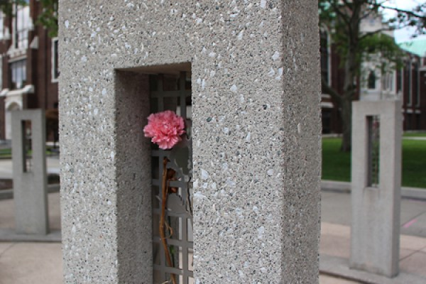 Memorial of Hope between Dillon and Essex halls