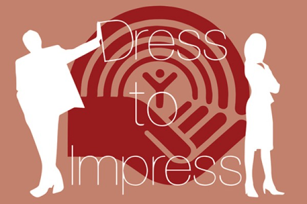 Dress to Impress superimposed on United Way logo