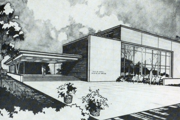 architect's drawing for west wing