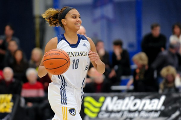 Guard Miah-Marie Langlois of the Lancer women's basketball team