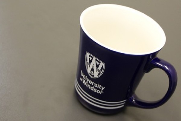 mug with UWindsor logo