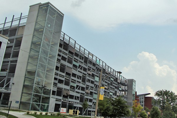 campus parking garage