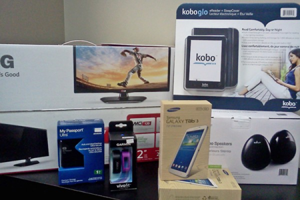 electronic devices offered in prize draw