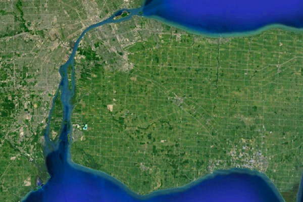 map of Detroit River