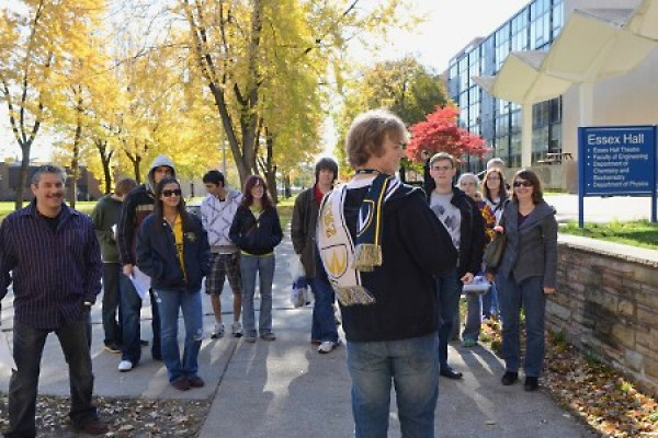 Guided tour of campus