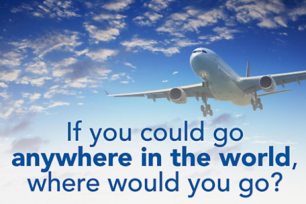 If you could go anywhere in the wrold, where would you go?