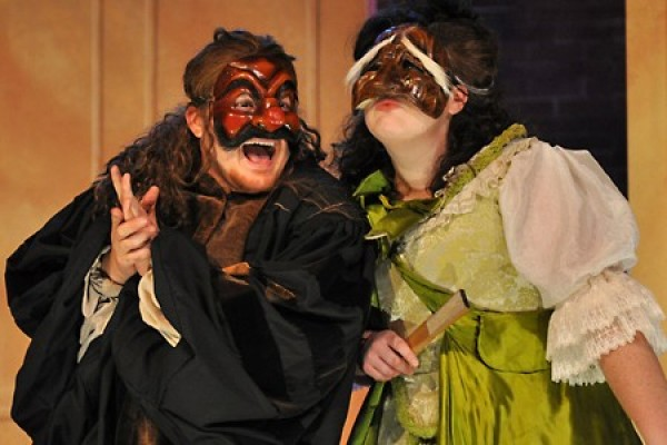 Eric Branget and Erika Downie in mask