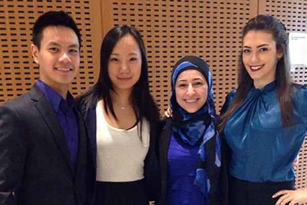 David Tran, Ruoshi (Rose) Zhao, Amal Ghamrawi and Tania Fara